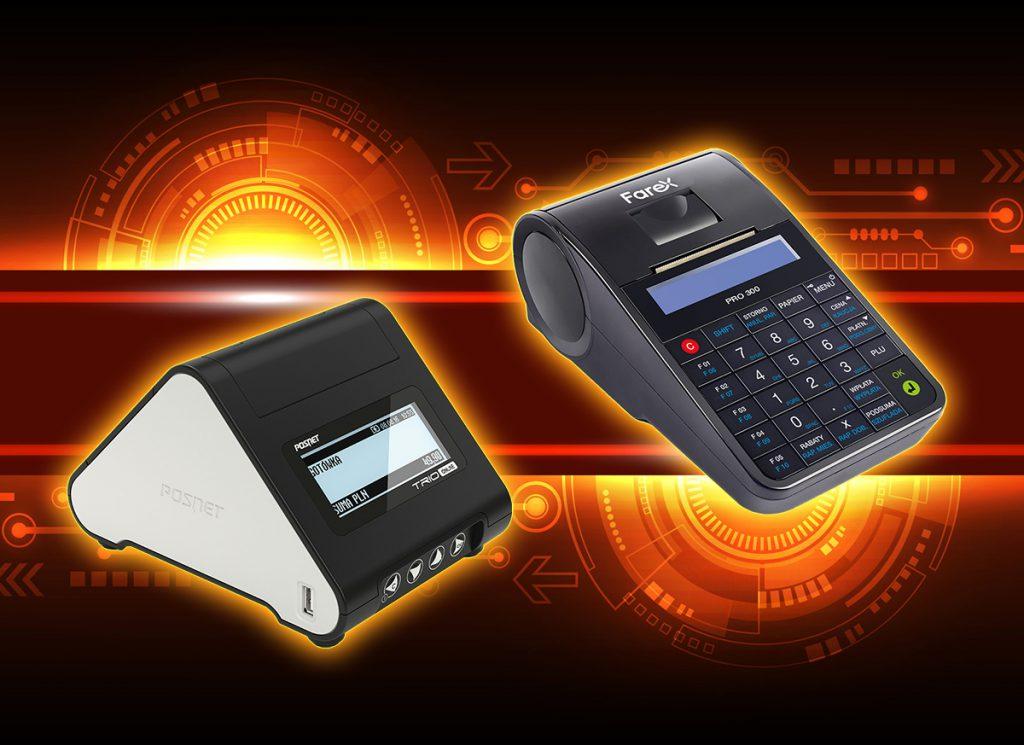 Drukarka fiskalna Posnet Trio Online i kasa fiskalna Farex Pro 300